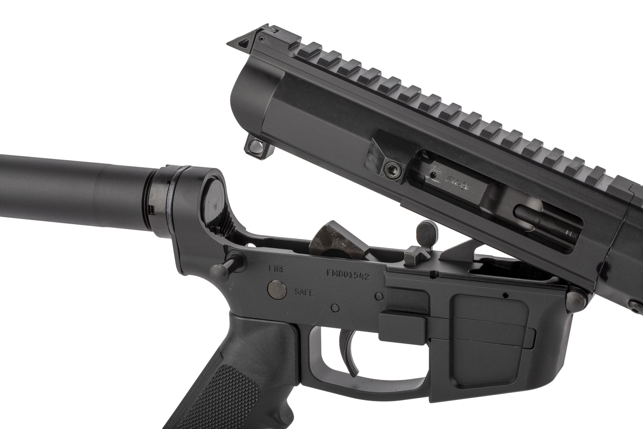 FM 7″Glock Style Side Charging 9mm AR Pistol | Foxtrot Mike Products