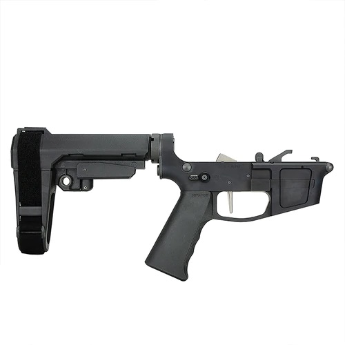 jpeg-1-Foxtrot Mike Premium Complete Billet 9MM Pistol Receiver with SBA3 Brace