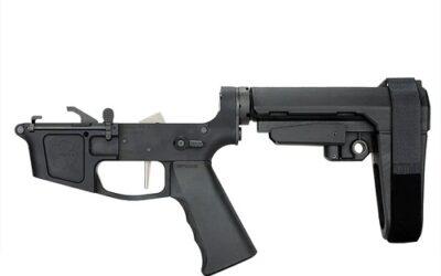 Premium Complete Billet 9MM Pistol Receiver with SBA3 Brace