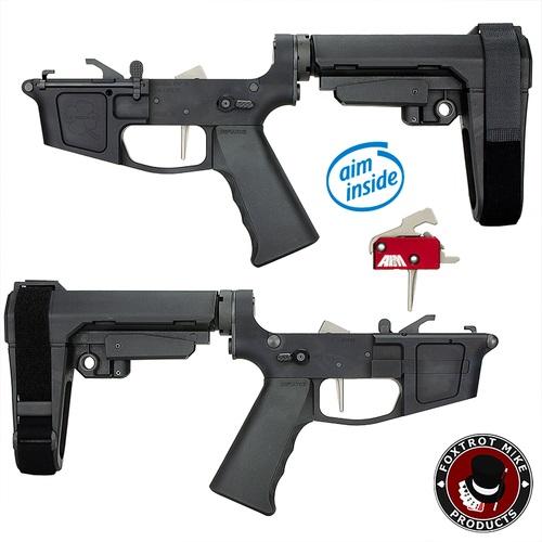 jpeg-3-Foxtrot Mike Premium Complete Billet 9MM Pistol Receiver with SBA3 Brace